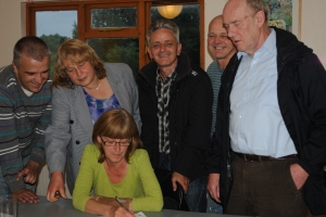 Residents sign paperwork for Ambition Lawrence Weston1